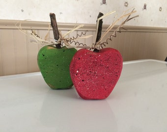 Rustic Wooden Apple Decoration