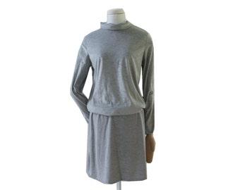 Jersey dress gray dress time - minimalist, unique, unique, unique fashion, dresses