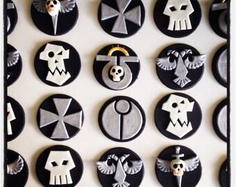 12 x warhammer fondant edible Cupcake toppers