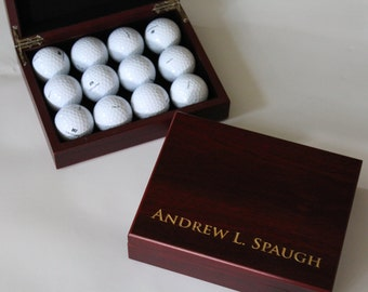 6 - Personalized Gift Box, Personalized Groomsmen Box, Cigar Box, Flask Box, Custom Golf Box, Wedding Gifts