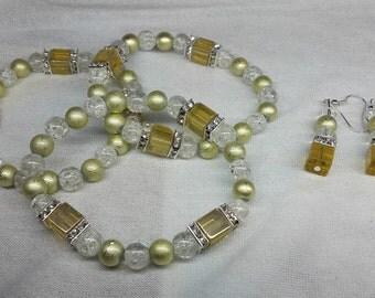 Bridesmaid gift set olive / Brautjungfern Geschenk Set Olive
