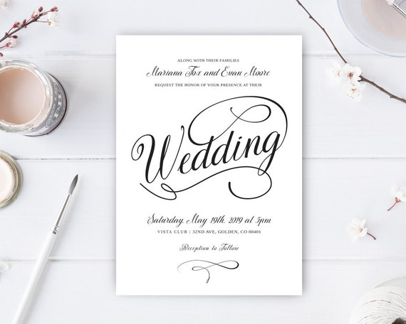Cheapest Way To Send Wedding Invitations: Cheap Wedding Invitations Printed On White Premium Paper