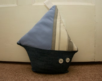 Nautical Boat Doorstop Handmade