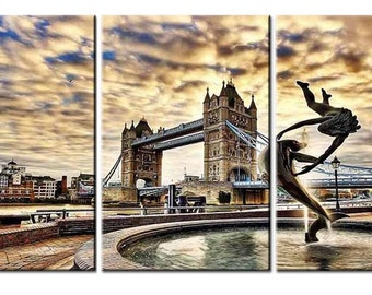 Emmanuelgift Canvas wall art canvas print London Tower Bridge