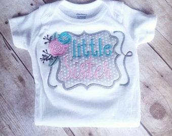 Little Sister Bodysuit - Little Sister Shirt - Little Sister - Baby Girl Shirt - Sibling Shirt
