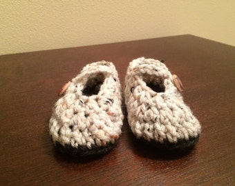 0-3 Month Crochet Baby Mary Jane Booties