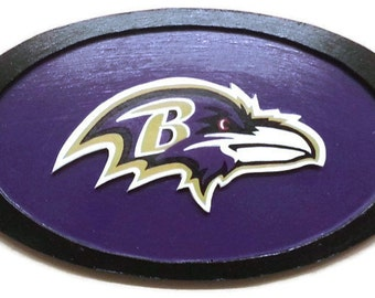 Baltimore Ravens Wall Art Sign; NFl, NBA, NHL, MLB, Personal logos can also be done!