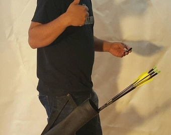 Hanging hip quiver perfect for Target practice.