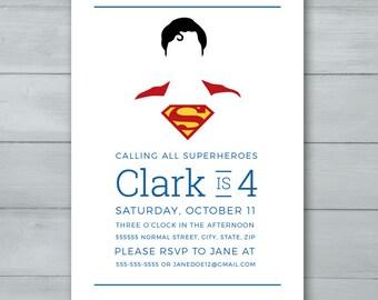 Superman Birthday Invitation  |  Superhero Invitation  |  Superman Invitation  |  Superman Invite