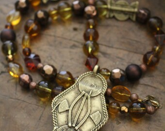 Ethniques Bijoux - Bronze Africains Perles africaines - Design contemporain - artisan - tribu - Akan - Ashanti Asante
