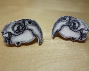 Macaw Skull Earrings
