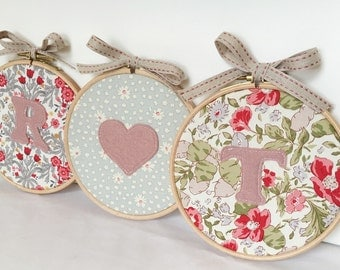 Personalised Love Hoops Gift Set - Matching Set of 3