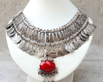 Bohemian necklace Ethnic with the inspirations of the Indies
