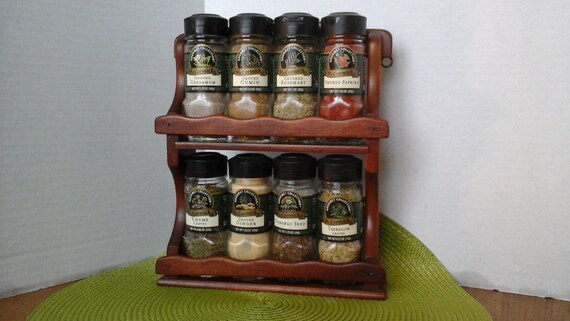 Small Countertop Spice Rack : ... Wood Spice Rack, Small 8 Spice Rack. Countertop or Hanging Spice Rack