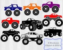 Monster truck SVG Files, Monster truck svg, Monster truck clipart, vector, svg files for silhouette, cricut, transportation, monster jam svg