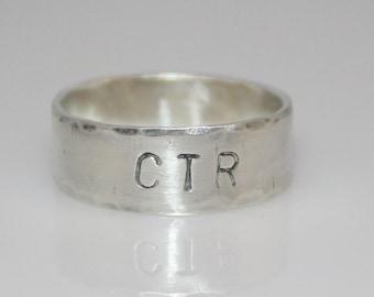 CTR Ring - Sterling Silver Hammered Custom