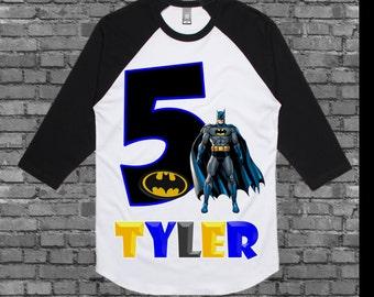 Batman Birthday Shirt - Batman Shirt - Other Colors Available