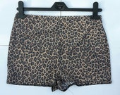 High waisted shorts roller derby clothing pole dancing shorts, burlesque costume gym wear