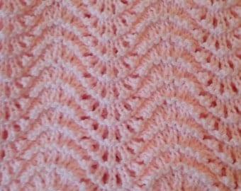Hank knit baby blanket