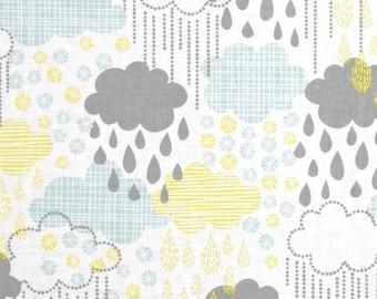 Blown Away - Rainy Day Blue - 100% Premium Cotton Fabric (Blend Fabrics 114.106.03.2)