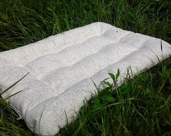 Hemp floor cushion with Buckwheat hulls /Organic pillow/buckwheat/ pillow seat/Meditation Yoga Organic/Natural