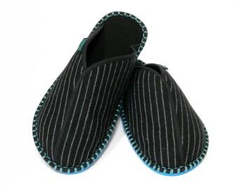 Men's Slipper Pinstripe
