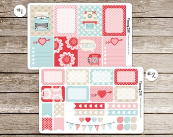 Planner Stickers | Love Messages Decorative Planner Stickers for use with ECLP Vertical Planners
