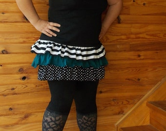 "skirt ""bobor"" stripe, blue canardet pea available size S, M, L XL + on command"