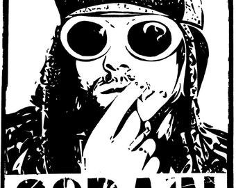A4 Kurt Cobain Vector Art Print.