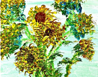 Sunflowers for Mother's Day (Glossy Print)
