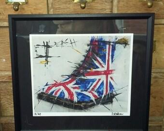 DM Patriotic boot print ... 'Dr Marten boot..side' (Framed)