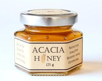 ACACIA honey 4.4oz/Slovenian natural honey/Unheated honey/honig/Raw honey/acacia food/acacia/honey jar/Akazien honig/birthday gift