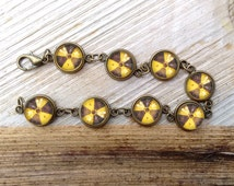 Radioactive Fallout Bracelet, Radiation bracelet, , glass bracelet, nerd gift, gift for gamer girl