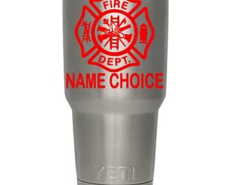 PERSONALIZED FIREMAN DECAL/Firefighter/Fireman/Firemen/Fire Woman/Fire Women/Fire Department/Locker Sticker/Cup/Truck/Car/Window