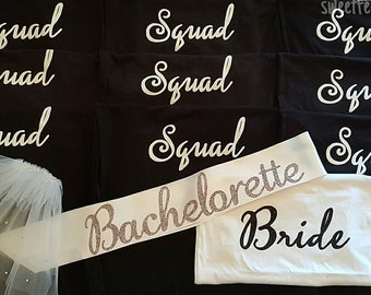 Bride and squad custom shirts
