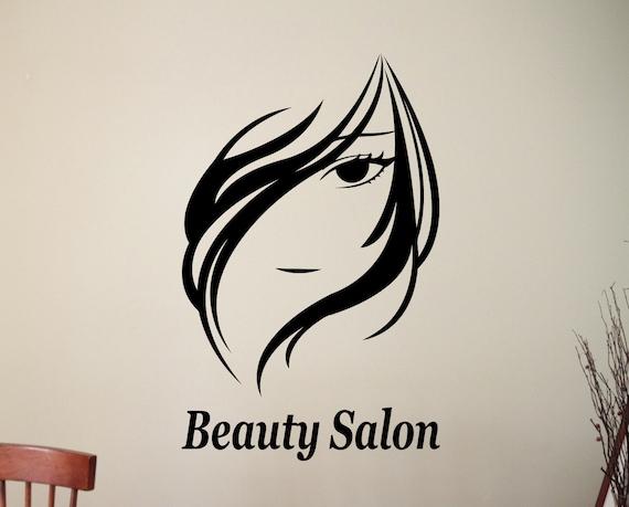 Beauty Salon Wall Sticker Hair Salon Decals Home Interior