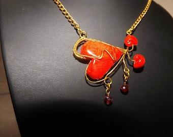 Valentine hearts necklace