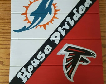 House Divided Dolphins/Falcons Sign