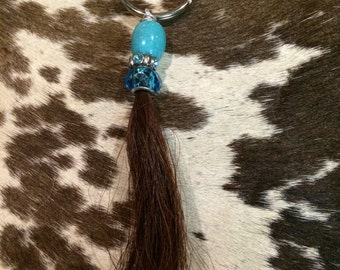 Horsehair keychain your choice