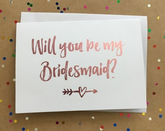 Will You Be My Bridesmaid Card | Foiled