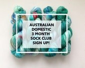 3 Month Sock Club Sign Up! Australia ONLY