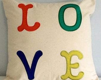 "16"" X16"" Pillow cover LOVE"
