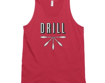 Drill Tank - 100% Ring-Spun Cotton Tank Top- Single or Double Print- Made in USA