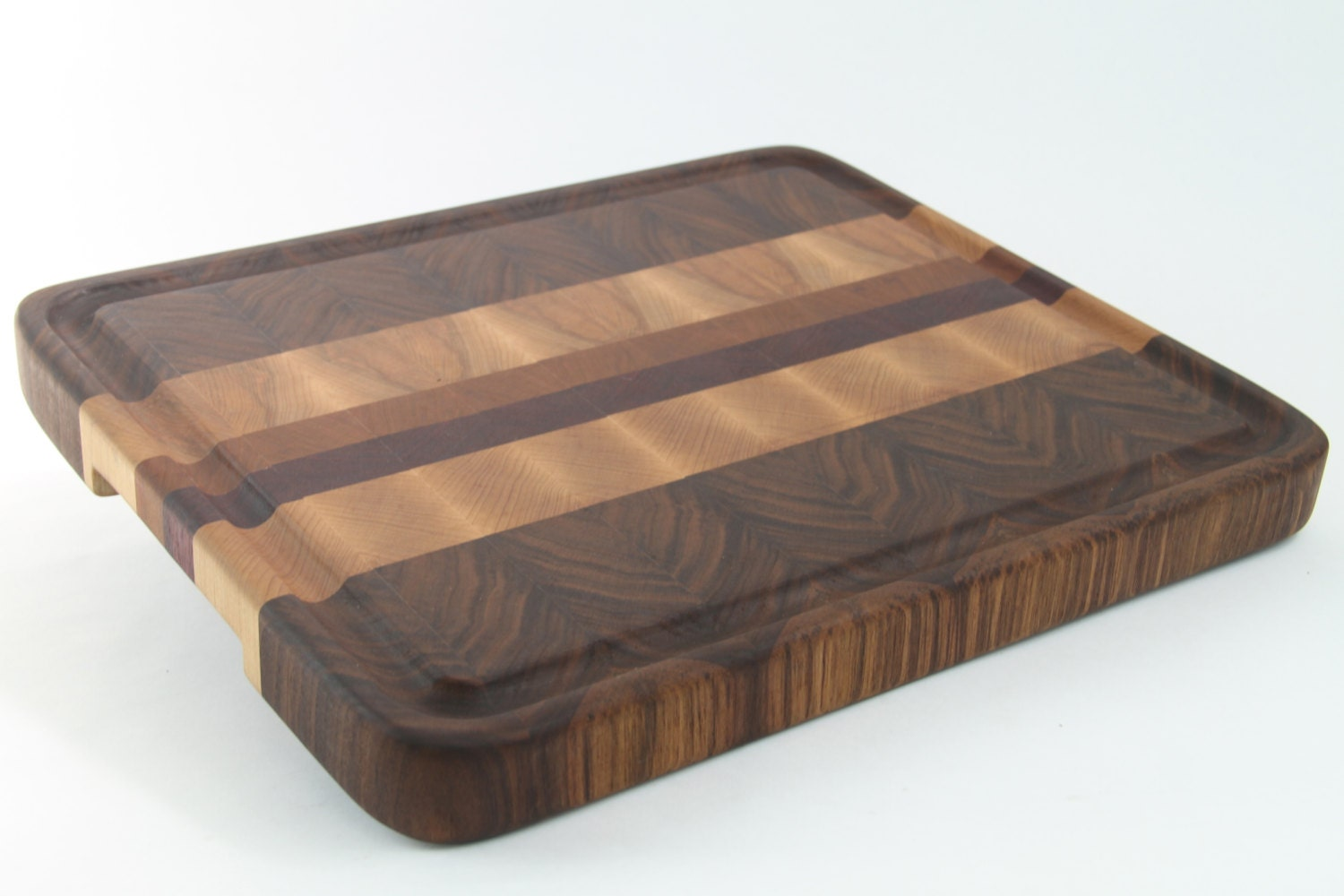 handcrafted wood cutting board end grain walnut cherry. Black Bedroom Furniture Sets. Home Design Ideas
