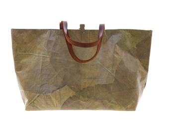 Green Maya Atman Unique Leaf Carry-all Bag