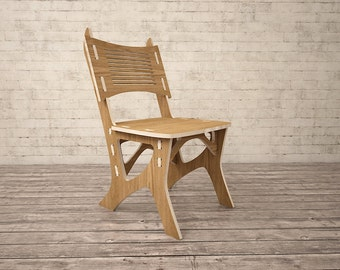 Chair CNC miled wood DXF file Digital download