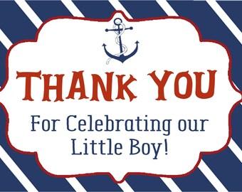 Ahoy Boy Thank You Cards, Nautical Thank you