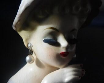 Vintage Miniature Inarco Lady Head Vase