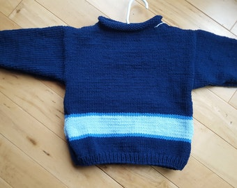 Navy baby sweater ( size 2 )