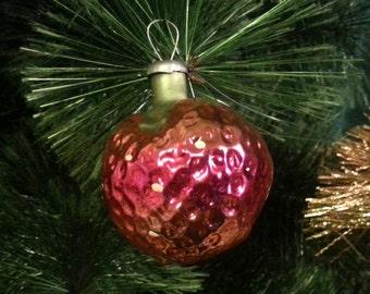 Vintage Christmas tree ornament USSR. Glass strawberry